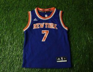 NEW YORK KNICKS usa # 7 ANTHONY BASKETBALL SHIRT JERSEY ADIDAS ORIGINAL KIDS M