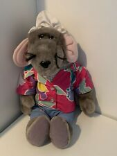 **ROLAND RAT HOLIDAY SHIRT VINTAGE PUPPET SOFT TOY - EXCELLENT CONDITION**