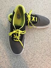 Retro Vans Neon Green/Black & Gray - Off the Wall Sneakers/Tennis Shoes - SZ 13