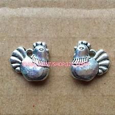 P283 15pc Tibetan Silver hen Charm Beads Pendant accessories  wholesale