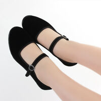 4 Style Chinese Mary Jane Shoes Ballerina Ballet Work Flat Shoes Black Size 5-11