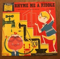 "Vintage Rhyme Me a Riddle - Children's Record Guild 10"" 78 RPM CRG1025"