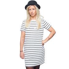 Viscose Striped Shirt Dresses