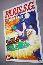 programme )) TOURNOI DE PARIS 1988 / PSG P.BELGRADE MONTPELLIER SERVETTE GENEVE