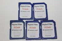 5pcs 512mb DIGITAL FILM standard SD MEMORY CARD old SD cameras,PDA,PALM,trail