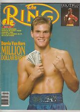 THE RING MAGAZINE DARRIN VAN HORN-EVANDER HOLYFIELD BOXING HOFer JANUARY 1988