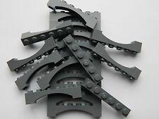 Lego Arche 1x6 x20 pièces # Dark Gris Pierre # Pont Fenêtre Mur Château