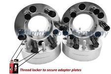 "4 Pc 5x135 to 6x135 2"" Wheel Conversion Adapter Kit w/ Black 7 Spline Lugs"