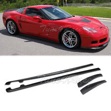 Fits 05-13 Chevrolet Corvette C6 Z06 ZR1 Style ABS Side Skirts & Mud Flaps