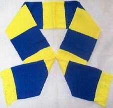 Royal Blue and Yellow Bar Scarf - Shrewsbury Wimbledon Football Team