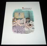R. Crumb color serigraph - Bukowski - The Captain is Out 1997 - bed