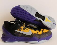 NIKE 2011 ZOOM KOBE VII 7 SYSTEM PURPLE-YELLOW-BLACK SZ 13 [488371-500]