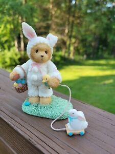 Easter Bunny Spring Cherished Teddies TRUDY So Hoppy You're My Friend 726737