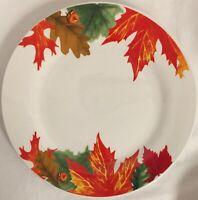 ROYAL NORFOLK AUTUMN FALL LEAVES DINNER PLATES THANKSGIVING HALLOWEEN
