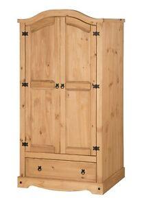 Corona Wardrobe 2 Door 1 Drawer Mexican Bedroom Solid Pine by Mercers Furniture®