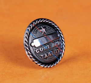 10X Texas Star Gonzales Flag Come And Take It LeatherCraft Conchos Retro Silver