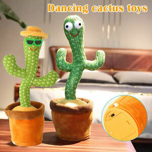 Dancing Cactus Plush Toy Electronic Shake with song cute Dance Succulent Gift AU
