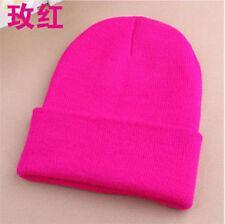 Men's Women Beanie Knit Ski Cap Hip-Hop Blank Color Winter Warm Unisex Wool Hat1