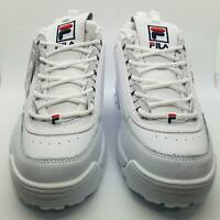 Fila Womens Disruptor II 3D Embroider White Sneakers 5FM00694-125 Size US 10