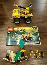 LEGO Dino Raptor Chase Playset #5884 Set Car Vehicle Instruction Book Figures