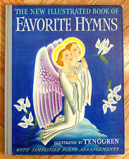 THE NEW ILLUSTRATED BOOK OF FAVORITE HYMNS Tenggren piano arrangements 1941 L1