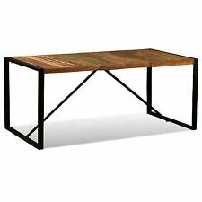 "vidaXL Dining Table Solid Reclaimed Wood Steel Industrial 47.2""/70.9"" Kitchen"