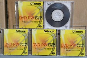 100 PZ.MINI DVD 8CM 30MINUTI 1,4GB -RW MARCA A-ONE PER VIDEOCAMERE PC E ALTRO