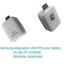 Samsung Adaptateur connecteur Micro USB OTG-USB 2.0  Galaxy S5 /S6 /S7 /S7Edge