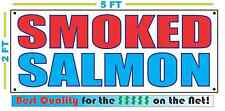 SMOKED SALMON BANNER Sign NEW 2X5