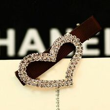 Women Korean Fashion Crystal Rhinestone Hair Clasp Feather Hair Accessory No.9