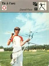 FICHE CARD Sport Sportif Tir à l'Arc Darrel Pace Champion Olympique Montréal 70s