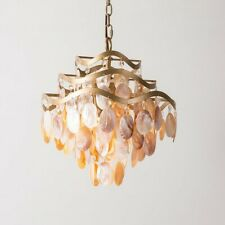 Modern 3-Tier Shell Chandelier Oyster Shell 4-Light Crystal Chandelier Lighting
