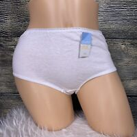 NOS Vintage Panties Simply Basic Brief White Size 7 100% Cotton Granny Sissy