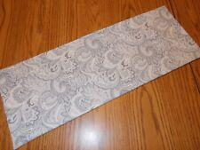 Gray tones Paisley Swirl decor MINI table runner Toilet Tank Topper handmade