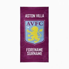 Aston Villa F.C. Large Beach Towel – Personalise with Any Name
