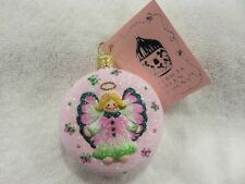 """Patricia Breen Ornament """"Littlest Angel Medallion - Butterfly Wings"""" 2006 Nwt"""