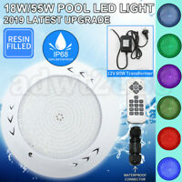 18W/55W 12V Resin Filled Swimming Pool LED Light RGB Remote Controller Retro Fit