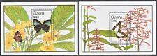 Guyana 1990 Butterflies 2 M/S NMH