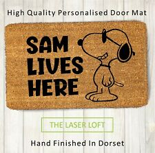 Coir Door Mat Snoopy Funny Novelty 40cm x 60cm Personalised