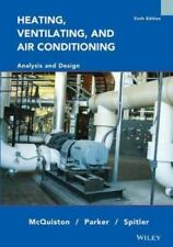 Heating Ventilating And Air Conditioning Analysis & Design 6Th Int'l Edition