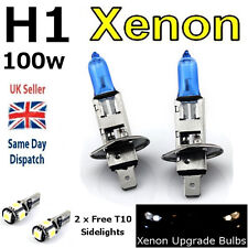 H1 100w SUPER WHITE XENON (448) HeadLight Bulbs + T10 W5W 501 LED 5SMD CANBUS CB