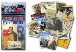 RAF at War Memorabilia Gift Pack with over 20 pieces of Replica Artwork