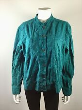 NWT $98 CHICO'S Teal Long Sleeve Parisian Jacket Size 3 or 16