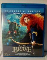 Disney Pixar: Brave (Collectors Edition, 3-Disc Set, Blu-ray, DVD, 2012) VG CIB