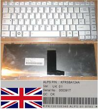 QWERTY KEYBOARD UK TOSHIBA A200 A210 M200 M206, KFRSBA124A , PK130180340 GREY