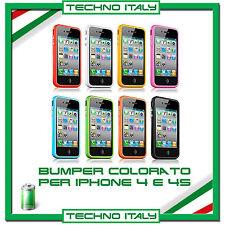BUMPER per apple IPHONE 4S 4 tutti i colori COVER SILICONE CUSTODIA FLAT