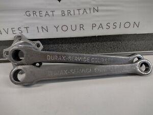 "Vintage Durax-Service Courses 5 Pin Cottered Cranks 170mm 9/16"" 1930-40's"