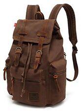 Zaino in tela, p.ku.vdsl Vintage Canvas Leather Zaino, Escursioni Daypacks, -
