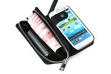 For Samsung Galaxy S3 Magnetic Leather Zipper Wallet Case Cover Card Flip Purse