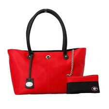 Georgia Bulldogs NCAA The Pamela Handbag with Aztec Necklace and Earrings